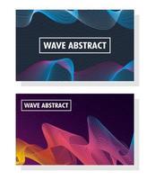 abstrakt vågig bakgrund set vektor