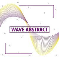 abstrakter welliger Hintergrund vektor