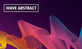abstrakt vågig färgstark bakgrund vektor