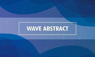 abstrakt vågig blå bakgrund vektor