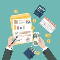affärsvy ovanifrån finans koncept vektor