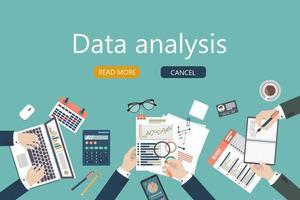 Audit-Design für Geschäftstreffen vektor
