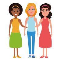 kvinnor avatar seriefigur porträtt