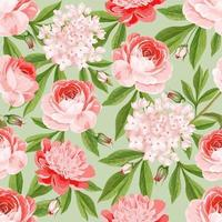 sömlös rosa blommönster vektor