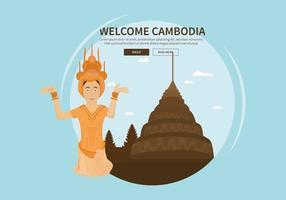 Kostenlose Kambodscha Illustration vektor