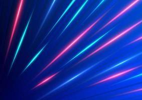 diagonales Bewegungsmuster der abstrakten Geschwindigkeit des blauen und roten Lichts vektor