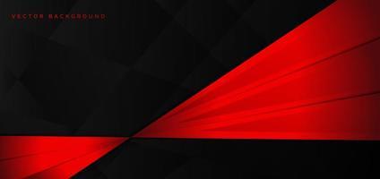 rote und schwarze glänzende diagonale Streifen auf Schwarz vektor