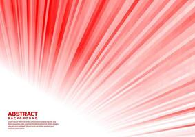 abstrakt randiga linjer vit och röd perspektiv design vektor