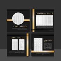 jul försäljning sociala medier postmallar vektor