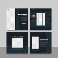 jul försäljning banner eller flygblad för sociala medier reklam vektor