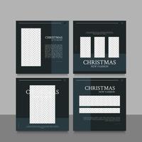 jul försäljning sociala medier post eller berättelse mallar vektor