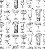 sömlösa mönster med cocktails