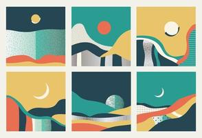 Satz von abstrakten Landschaften