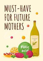 muss für zukünftige Mütter Poster haben vektor