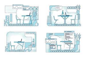 moderna kontorsinredning vektor