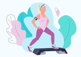 kvinna gör aerob träning vektor