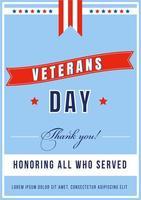veterans dag affisch vektor