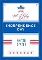 självständighetsdagen affisch vektor