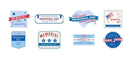 American Memorial Day Abzeichen gesetzt