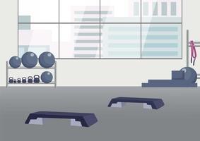 leerer Fitnessclub
