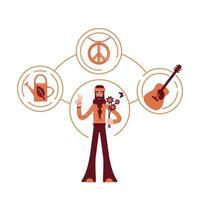 unschuldiger Hippie-Archetyp