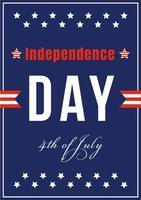 amerikansk oberoende firande affisch vektor