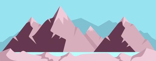 hög berg scen vektor