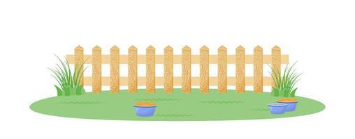 bakgård med staket vektor