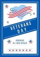 årlig veteran dag affisch vektor