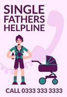 ensamstående faders hjälplineaffisch