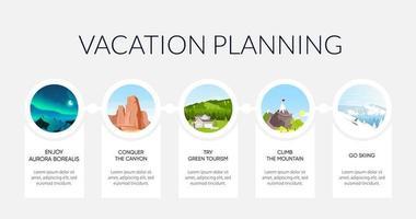 Urlaub informative Infografik Vorlage vektor