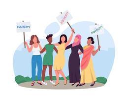 kvinnlig empowerment-grupp vektor