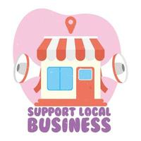 stödja lokala affärskampanjer med megafoner