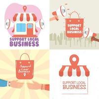stödja lokala företagskampanjuppsättningar