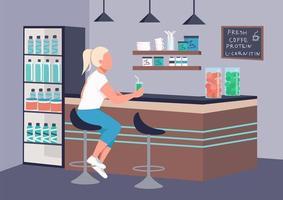 Frau an der Fitnessbar