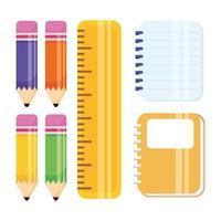 skolmaterial Ikonuppsättning