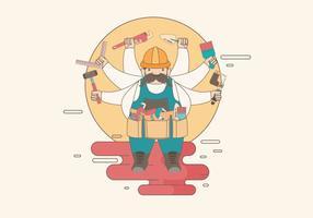 Bricolage DIY Guy Vektor