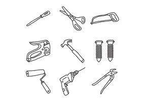 Bricolage Werkzeuge Kritzeleien vektor