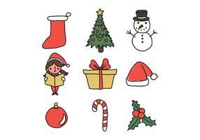 Weihnachten Doodled Icons vektor
