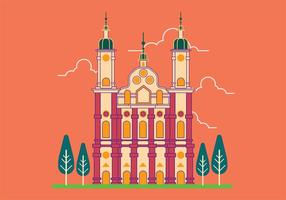 Vector Illustration von St. Gallen Abbey in der Schweiz