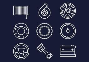 Autohaus Web Icons Set vektor