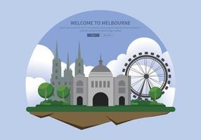 Kostenlose Melbourne Illustration vektor