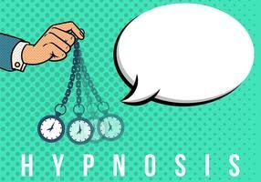 Hypnose-Pop-Art-Hintergrund vektor