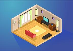 Laminat im Wohnzimmer isometrische Vektor