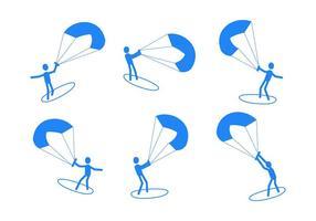 Gratis Utestående Kitesurfing Vektorer