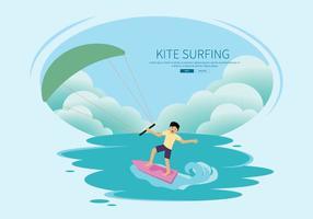 Kostenlose Kitesurfing Illustration