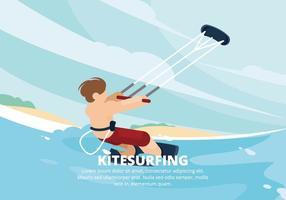 Kitesurfing Abbildung vektor