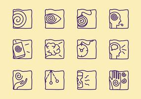 Hypnose Symbole vektor