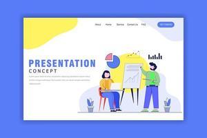platt designkoncept för presentation vektor