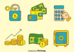 Hand gezeichnete finanzielle Element Vektor